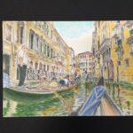 コピックアート・ベネチアのゴンドラ