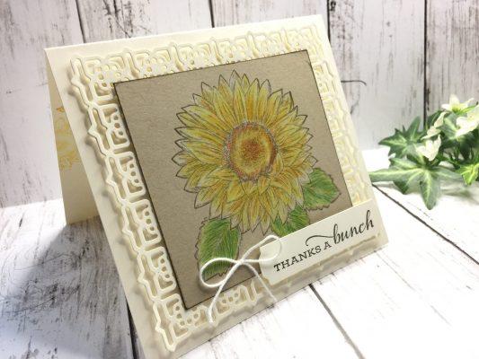 ヒマワリのカード画像